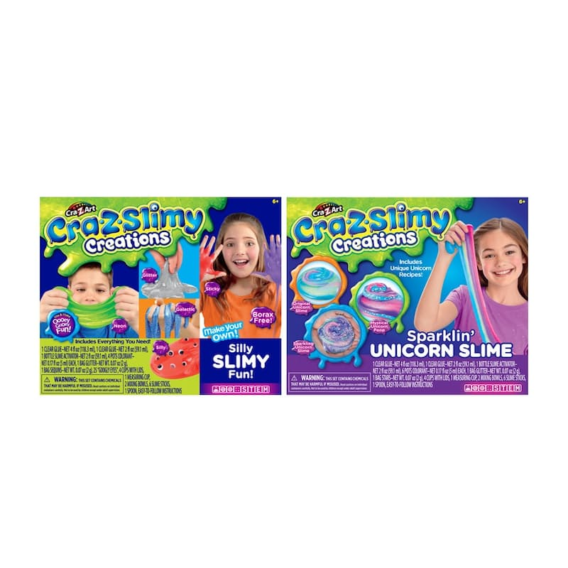 Pack of 2 Fun Slime Kits (3 Options Available)