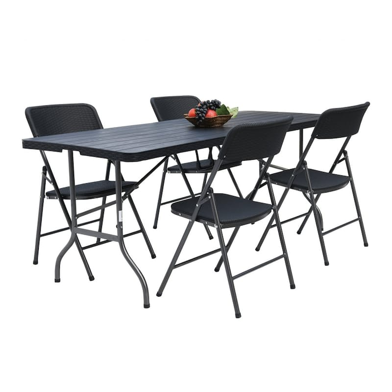 Outdoor Folding Table & 4 Chairs