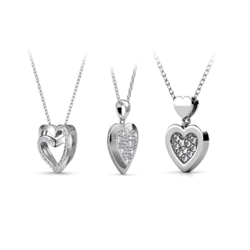 Heart Collection with Swarovski Crystals