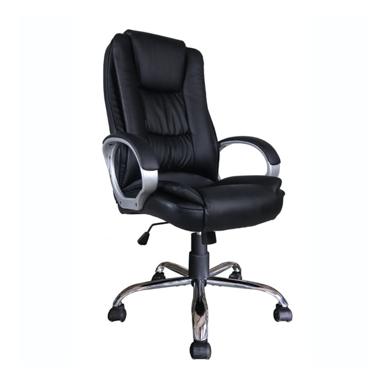 Black PU High-back Office Chair With  Butterfly Mechanism