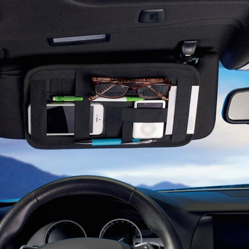 Multi-functional Portable Accessory Organiser for Car Sun Visor