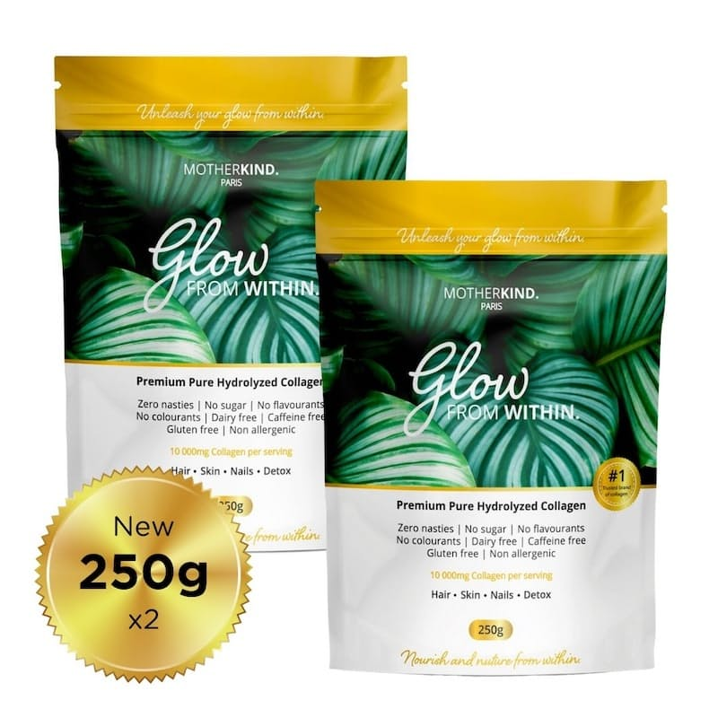 Pack of 2, Glow 100% Pure Hydrolysed Collagen Powder - 500g in Total