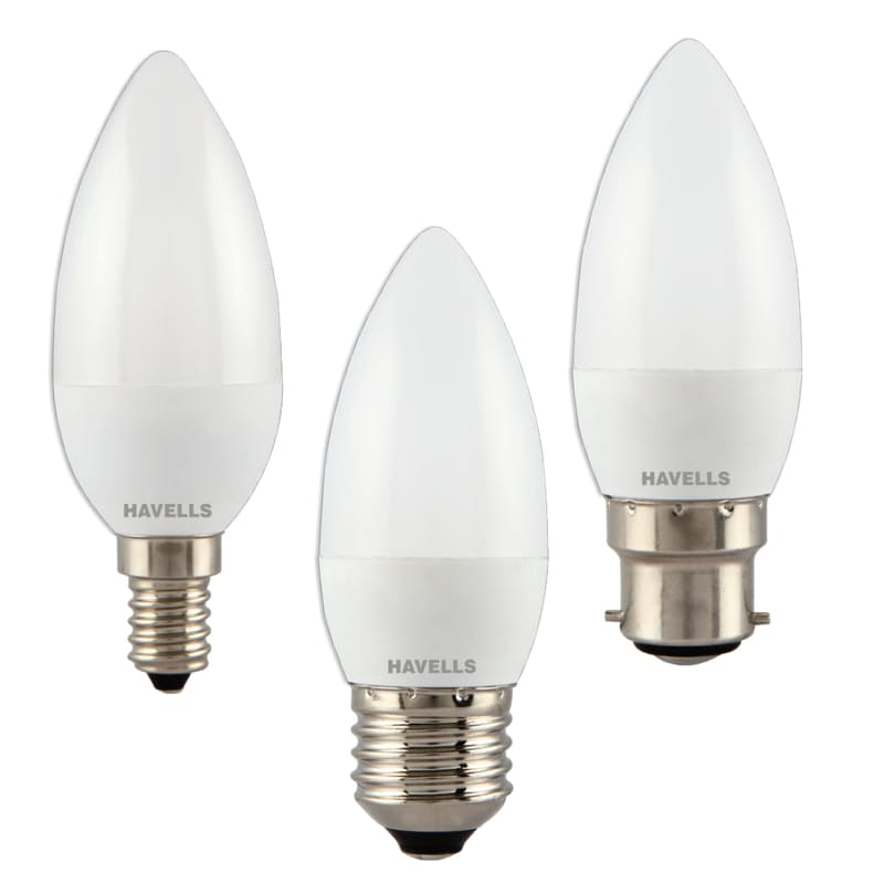 Pack of 3, Candle Light Bulbs (3W)