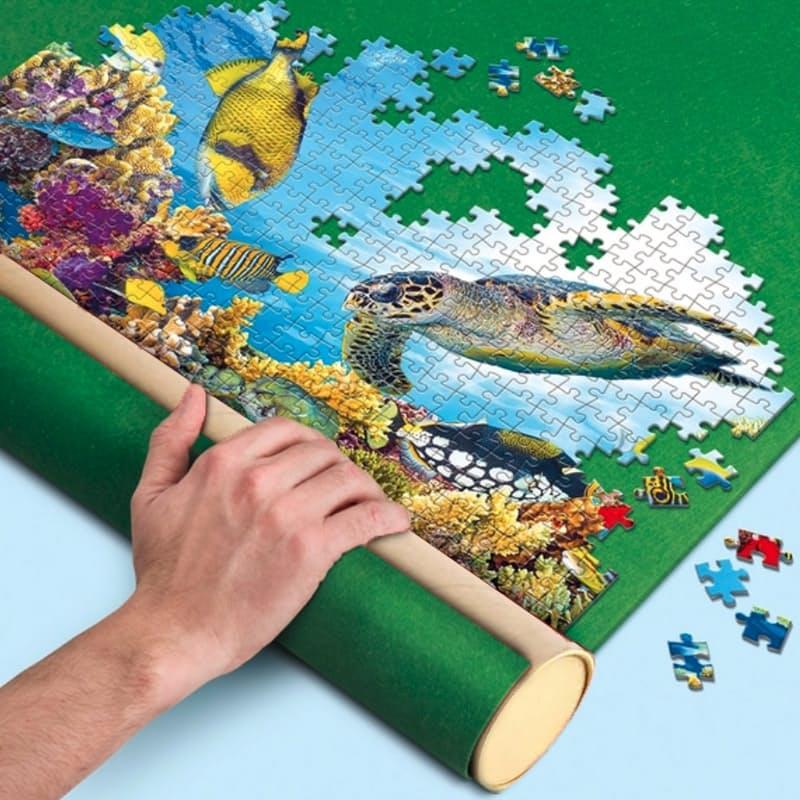 Easy to Store Puzzle Building Felt Mat & Puzzle Glue Set
