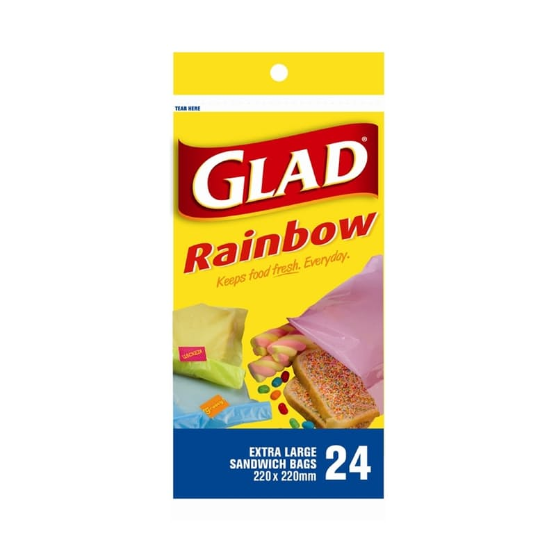 Pack of 10 Rainbow Sandwich Bags (240 Bags)