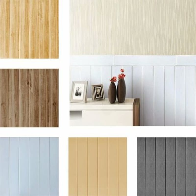 Self-adhesive 3D Wood-look Wallpaper (Multiple Styles Available)