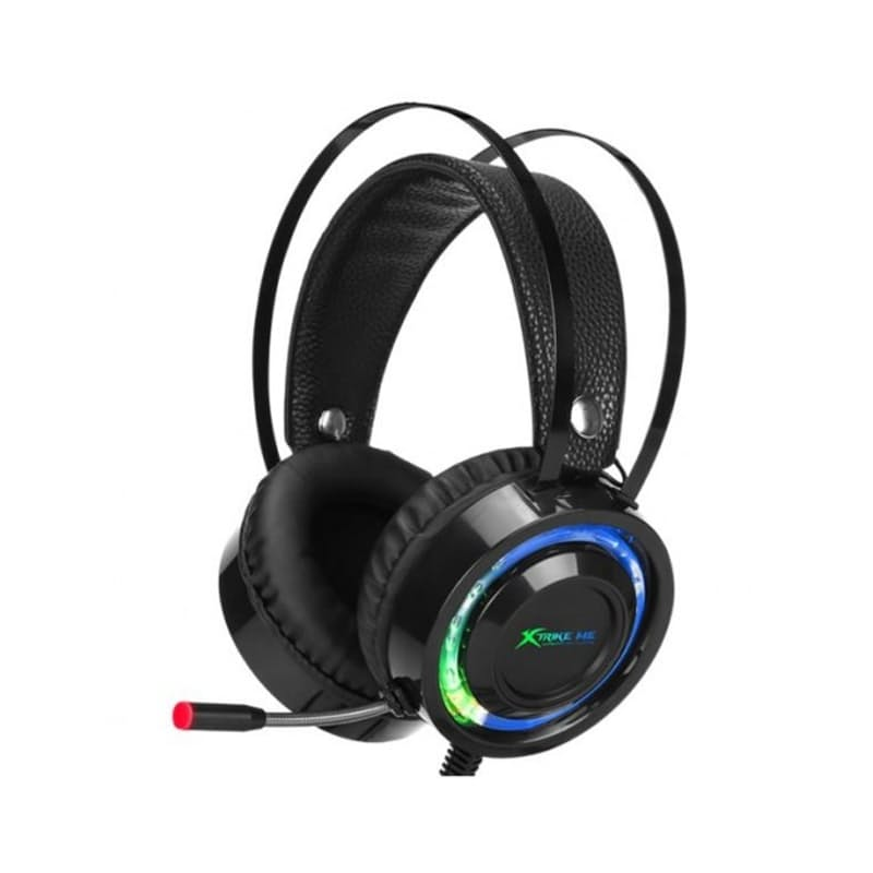 Over-Ear LED Backlit Gaming Headphones with Mic and On-ear Volume Control