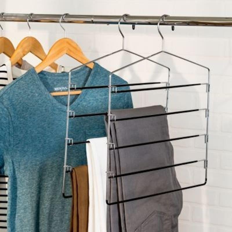 Pack of 2 Multi-purpose 5-Tier Swing Arm Hangers