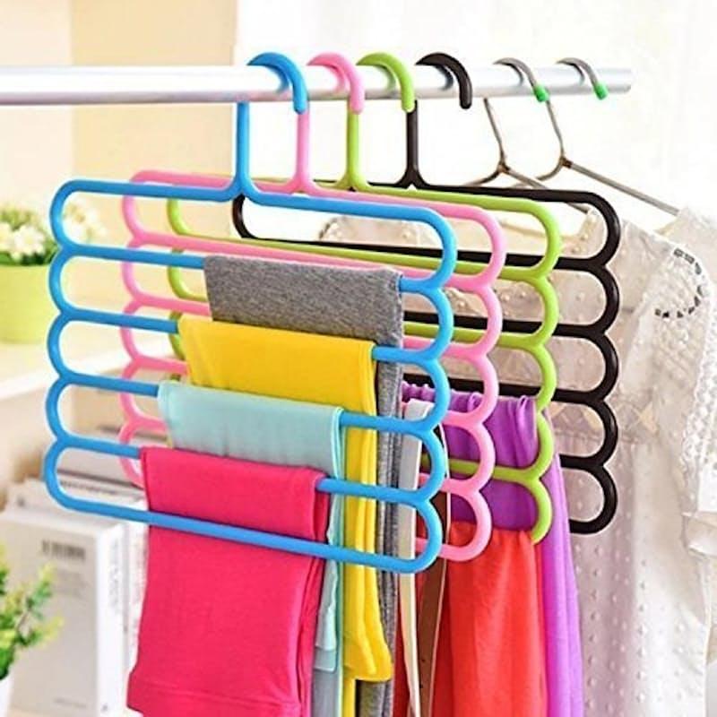 Pack of 4, 5-Tier Multi-functional Hangers