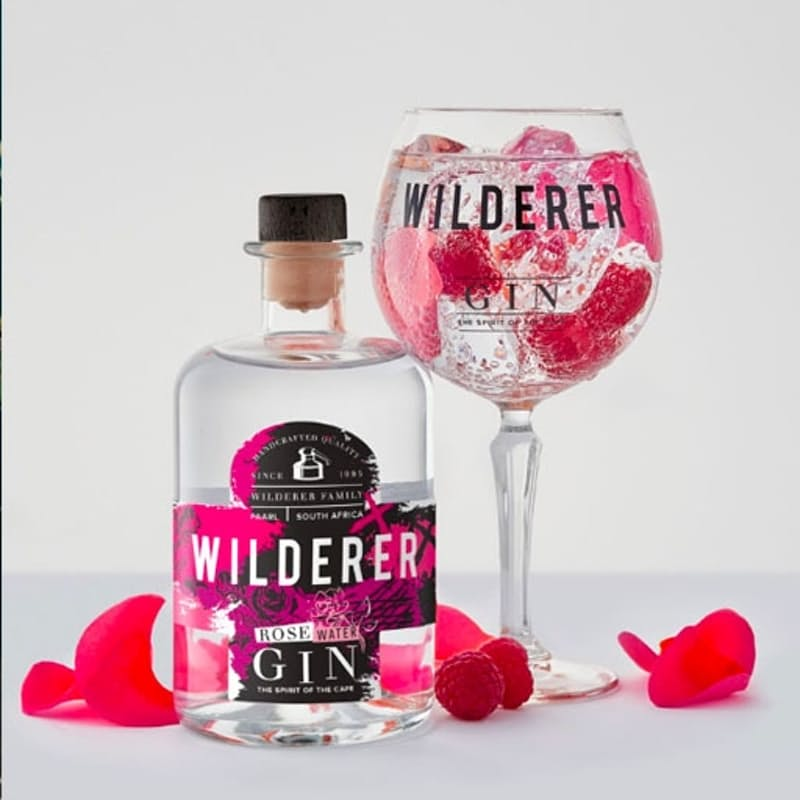 Premium Cape Fynbos Infused Rosewater Gin - 750ml
