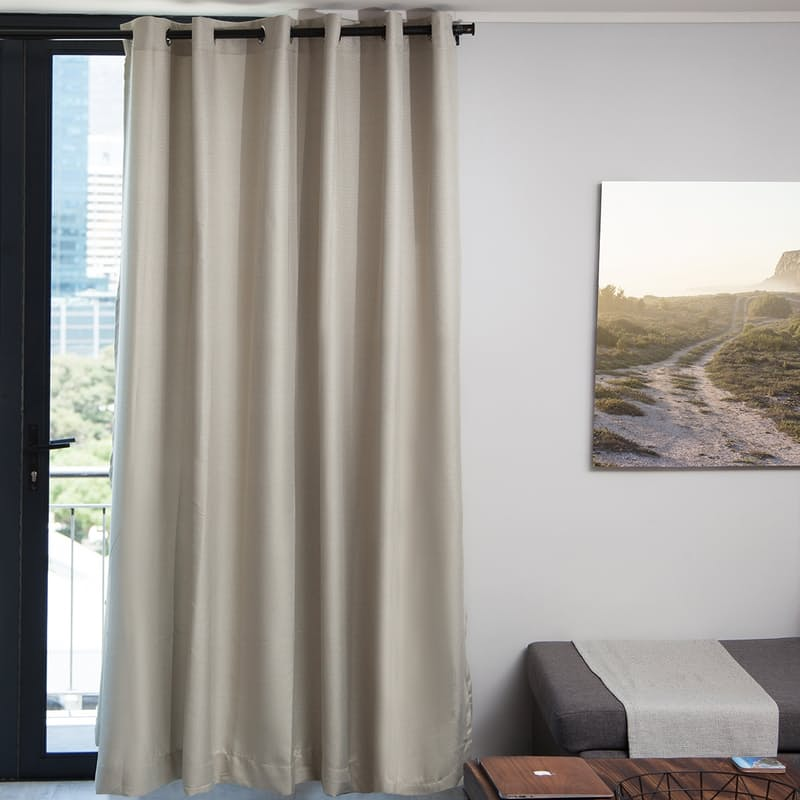 Self Lined Block Out Woven Eyelet or Taped Top Curtains (Single Drop)