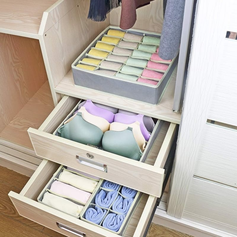 Set of 3 Collapsible Drawer Organisers