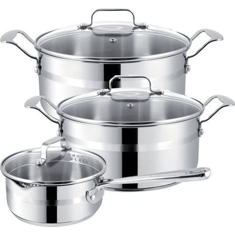 6-Piece Jamie Oliver Stainless Steel Brushed Set