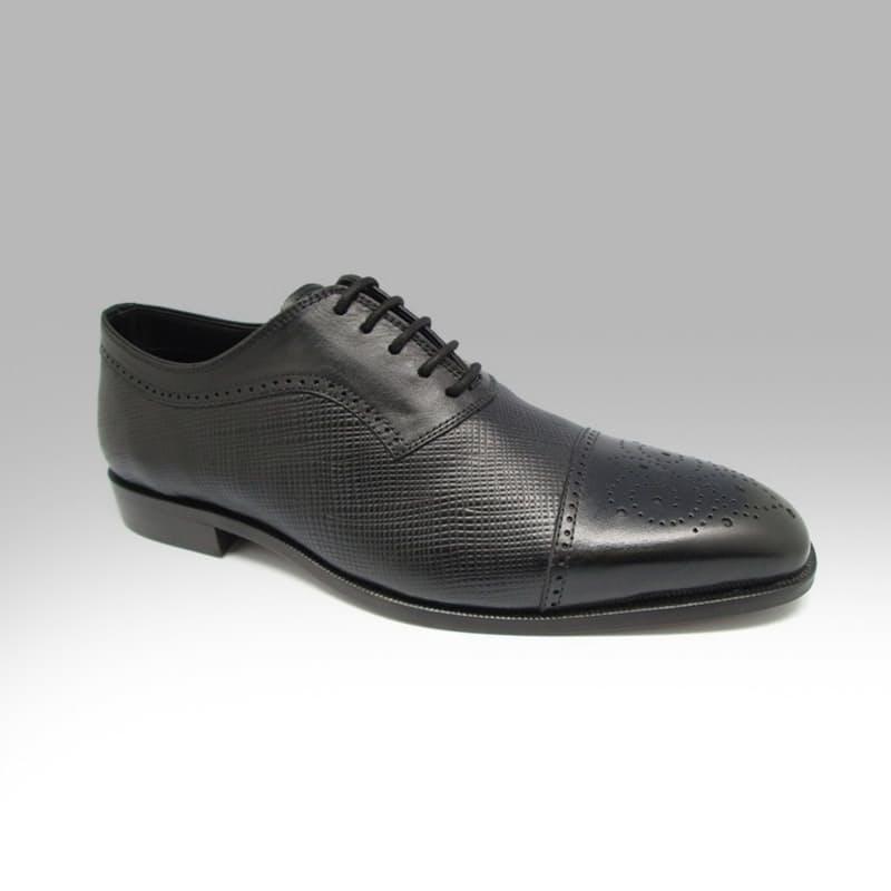 Men's Brogue Black Lace-up Leather Shoe