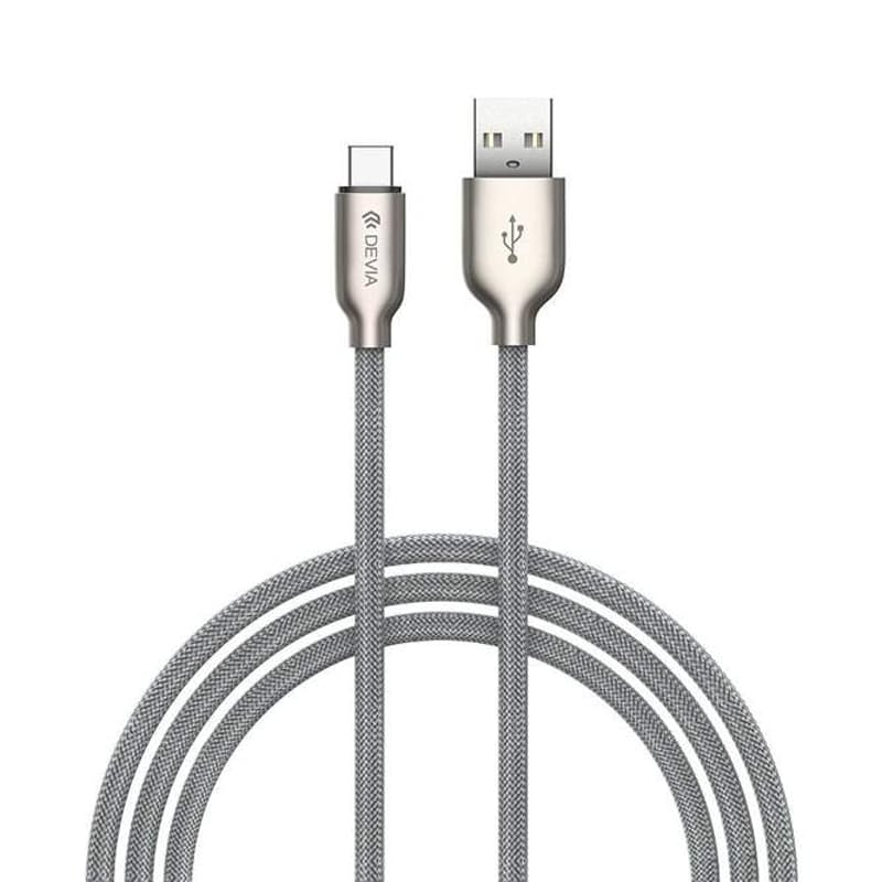 1m, 2.1A Fast Braided Charging Cable (Lightning or USB-C)
