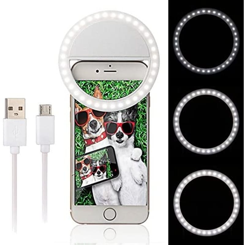Clip on Portrait Selfie Ring Light for Smartphones