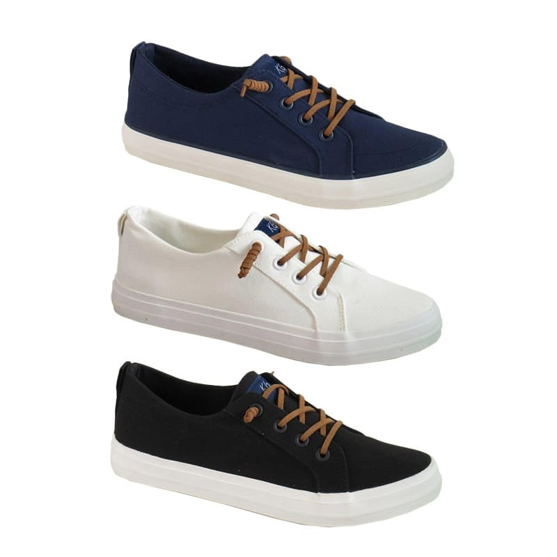Ladies Classic Canvas Sneakers with Knot Detail