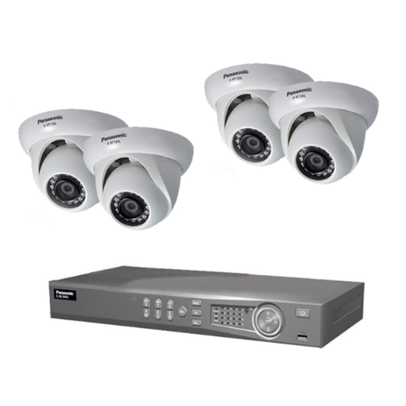 4 Channel CCTV Bundle (Including 4 Port NVR with 4 x Dome Cameras)