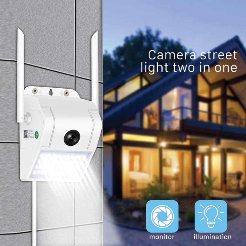 Weather Resistant Wall Light Security Smart Camera