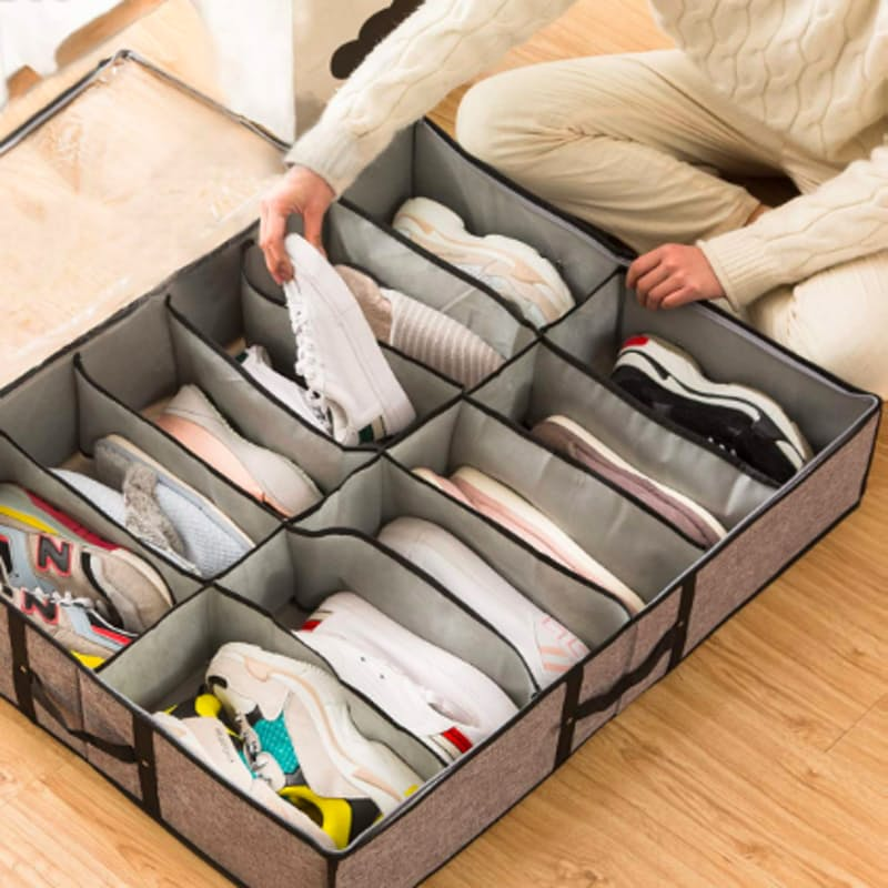 Pack of 2 Under Bed Shoe Organizing Space Saving Solution
