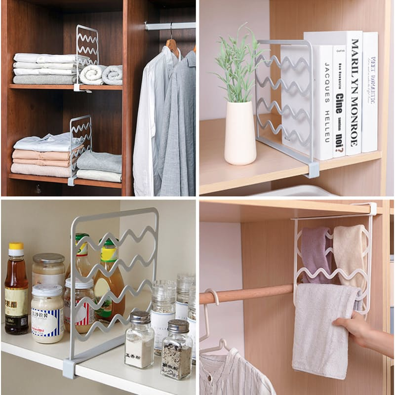 Pack of 2 Multi-functional Shelf Dividers and Hangers