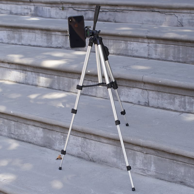 Adjustable Height Tripod with Bluetooth Selfie Remote