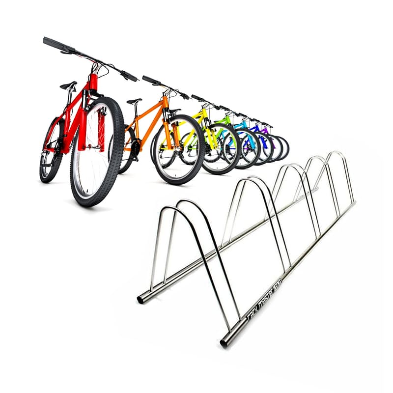 Stainless Steel Outdoor 5 x Bicycle Stand