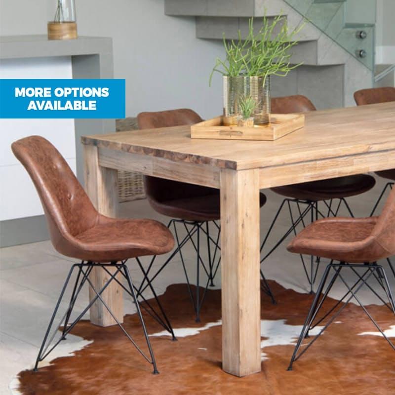 Industrial Eiffel-Leg Dining Chair
