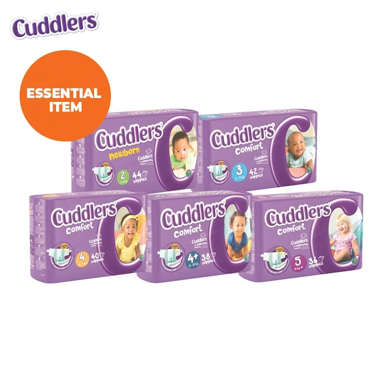 Disposable Comfort Nappies (Multiple Sizes Available from R2.00 per Nappy)