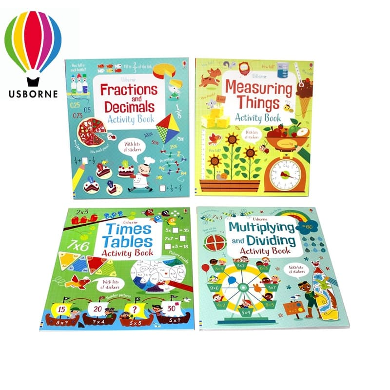 Children's Maths Write-In Activity Books with Stickers (4 Books)