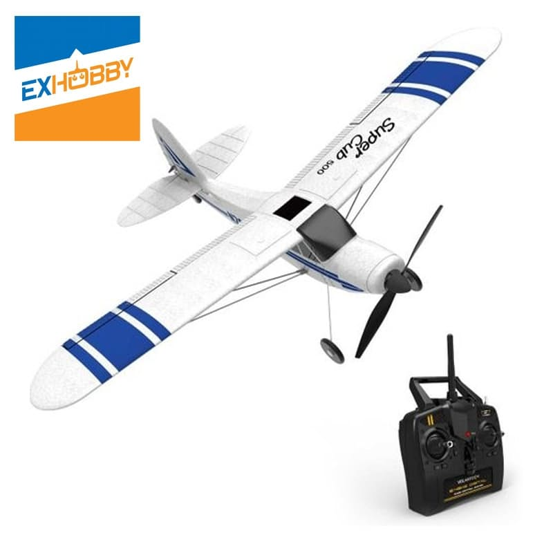 Remote Controlled Supercub 500 Brushed 3 Channel Plane with Battery & USB Charger