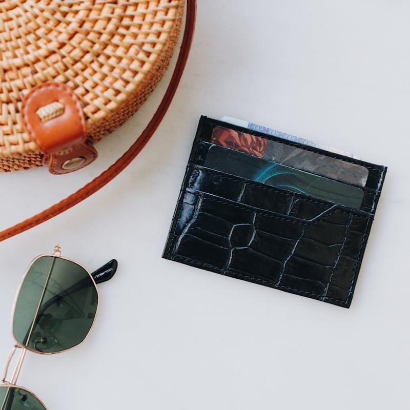 Embossed Leather Card Sleeve