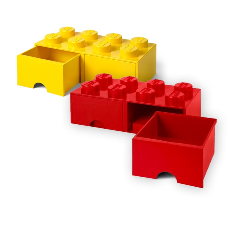 8 Knob Brick Drawers