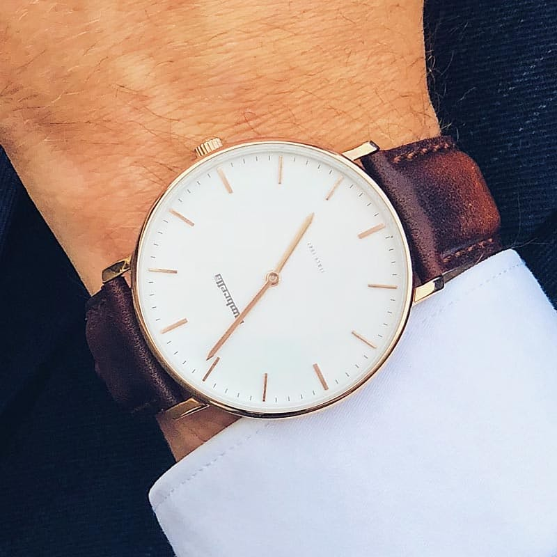 Mens Lucca Brown Leather Watch