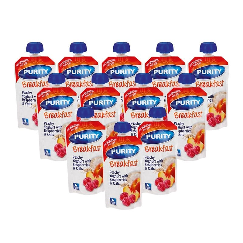 Pack of 12, 110ml Pureed Baby Food Pouches