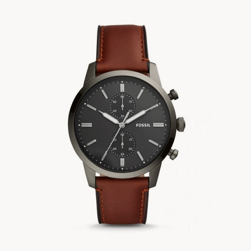 Mens Leather Townsman Watch