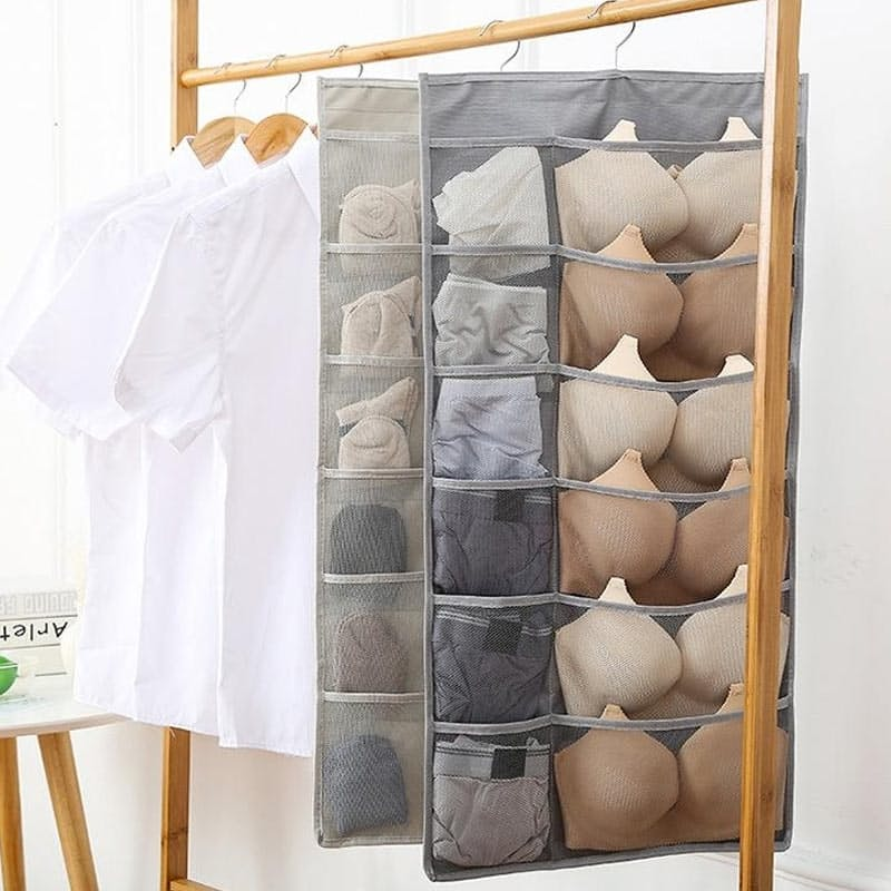 Dual-Sided Hanging Closet Organiser