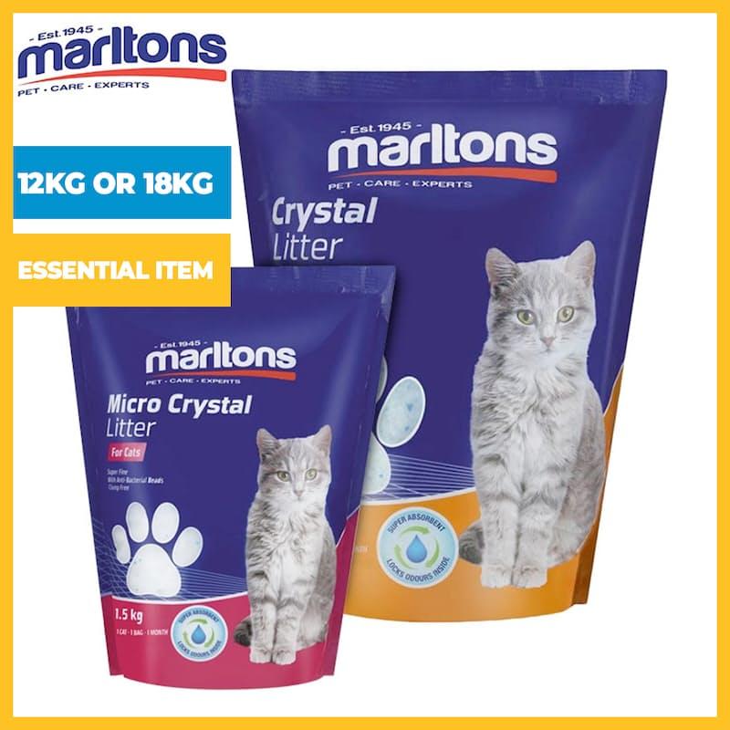Anti-Bacterial Crystal Cat Litter (12kg or 18kg)