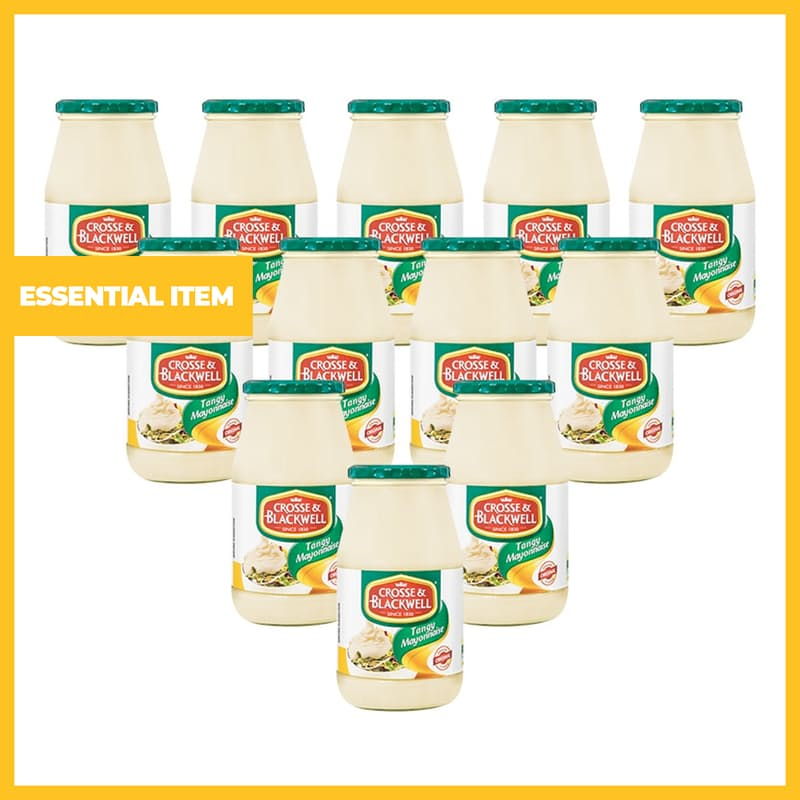 Pack of 12, 750g Tangy Mayonnaise Jars