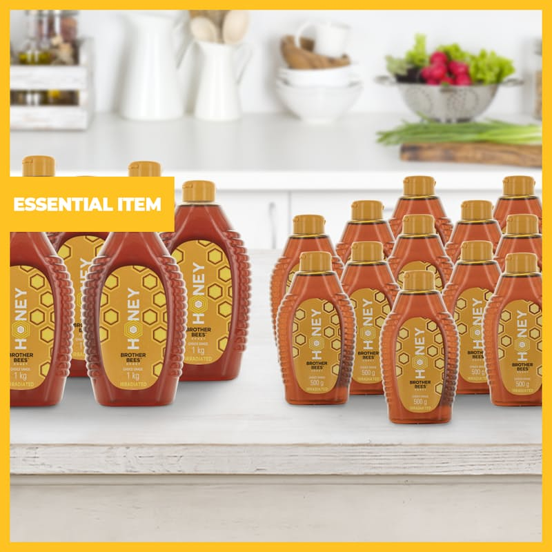 Pack of 6 or 12 Easy Squeeze Bottled Honey (500g and 1kg Available)