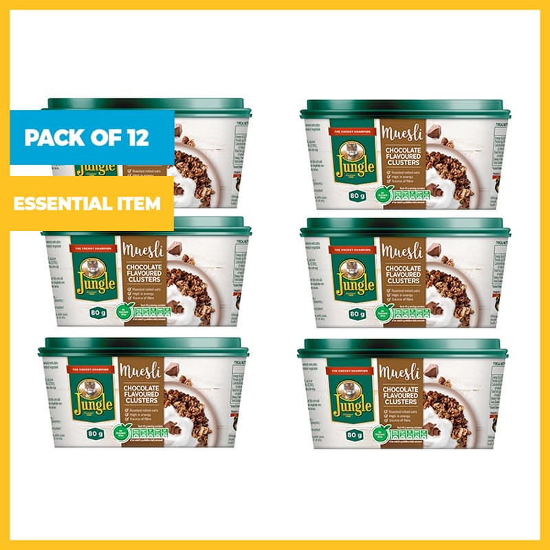 Pack of 12, 80g Muesli Cluster Cups