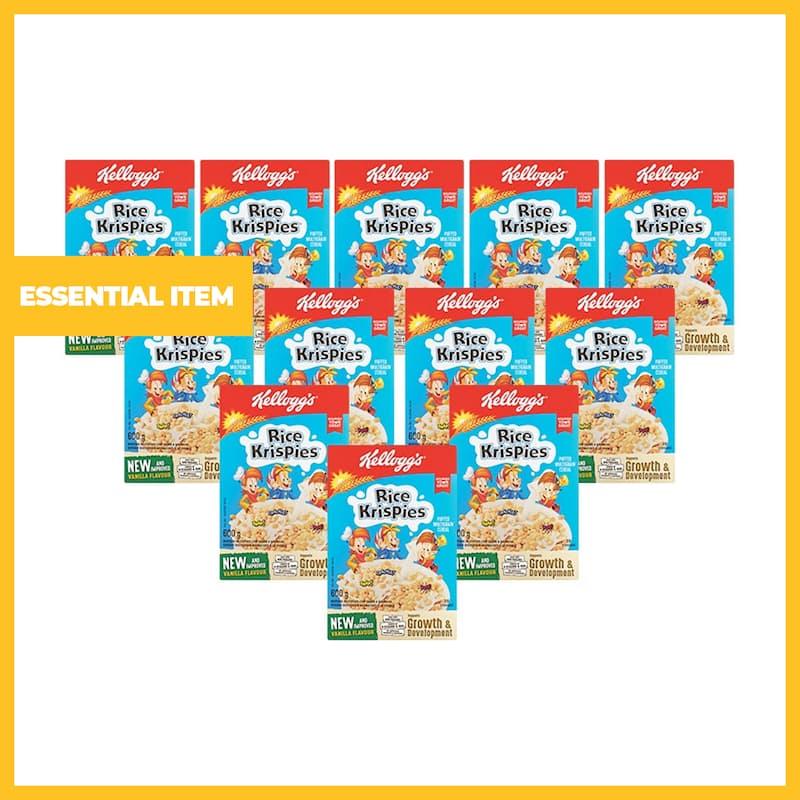 Pack of 12, 600g Rice Krispies