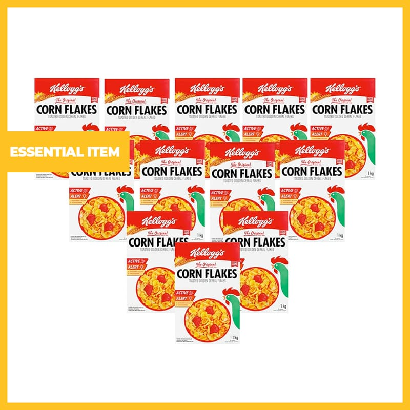 Pack of 12, 1kg Corn Flakes