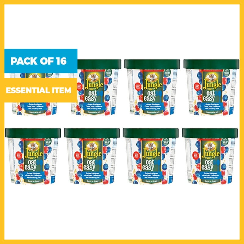 Pack of 16, 50g Oatso Easy Blackberry Forest Fruit Cups