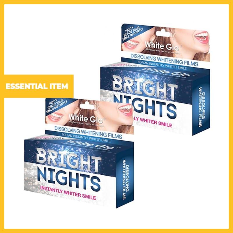 Pack of 2, Bright Nights - Dissolving Teeth Whitening Film Strips (12 Films)