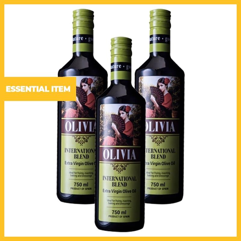 750ml Olivia International Blend Extra Virgin Olive Oil (Set of 3 or 6)