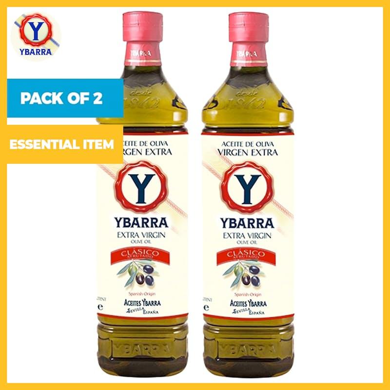 Pack of 2 x 1L Spanish Origin Extra Virgin Olive Oil