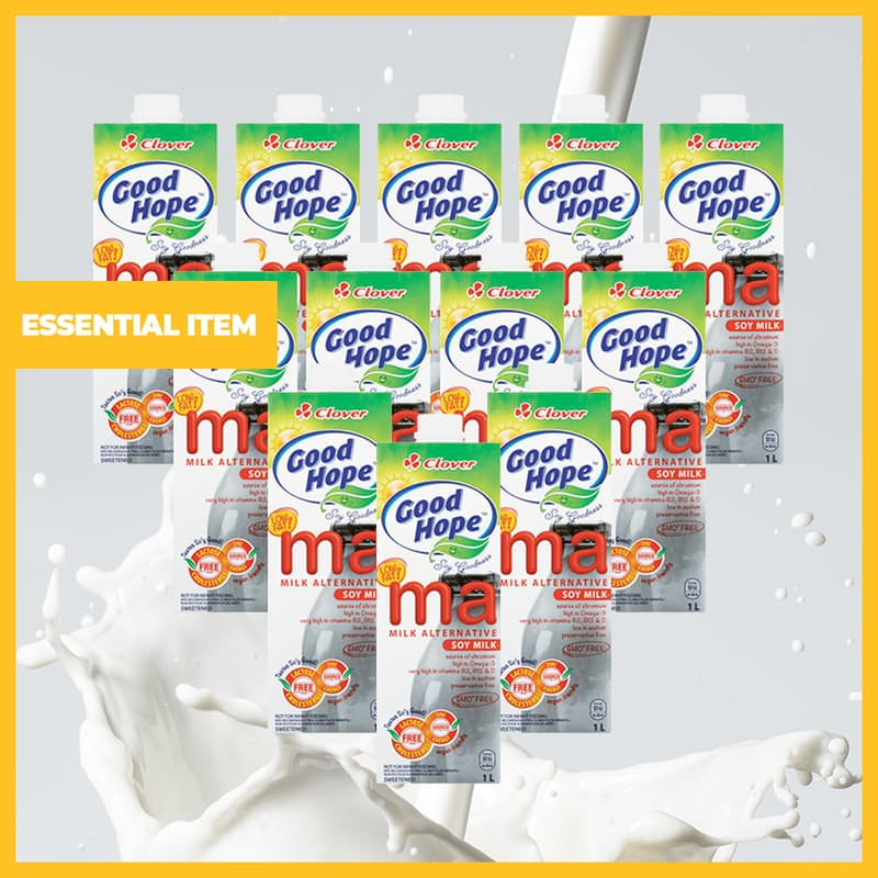 Pack of 12 Ma Soy Milk (1L each)