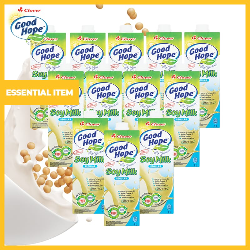 Pack of 12 Regular Soy Milk (1L each)