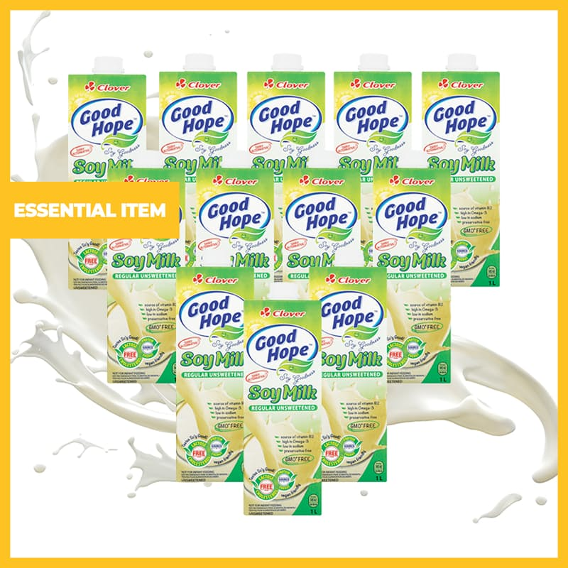 Pack of 12 Unsweetened Soy Milk (1L each)